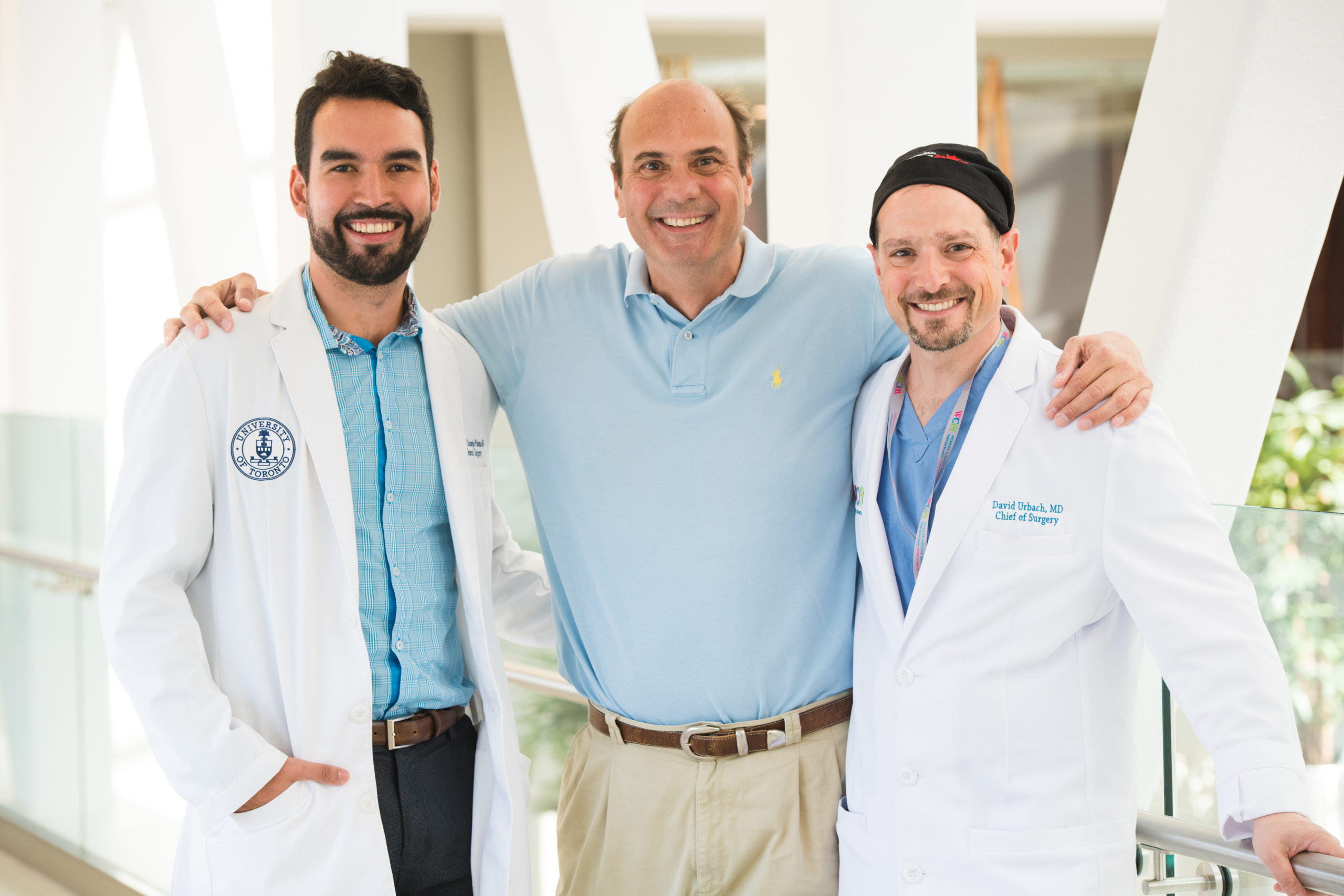 A picture of greg and 2 doctors